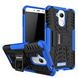 Bracevor Shockproof Coolpad Note 5 Hybrid Kickstand Back Case Defender Cover - Blue