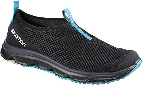 Salomon Herren RX MOC 3.0 Komfortschuhe, Schwarz/Blau (Black/Black/Hawaiian Surf), Gr. 42 Sport-moc