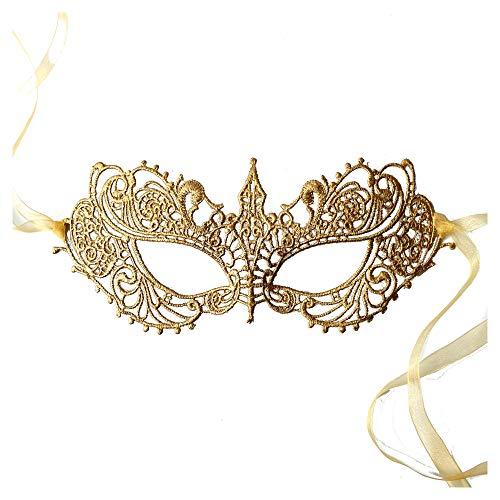 Gold Spitze Venezianische faschingsmasken Maskerade maskenball maske damen - Gottin (Maskerade Gold Masken)