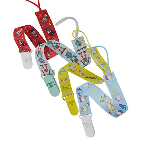 Schnuller-halter Universelle (INCHANT 4pcs 2-Sided Zahnen Schnullerkette Clip, elegantes Design Schnullerhalter, großes Geschenk für neugeborenes Kind)