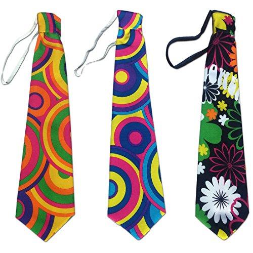 Corbata de colores Corbatín flower power prado florido Accesorio hippie complemento años setenta Corbata fiesta retro Accesorio outfit payaso