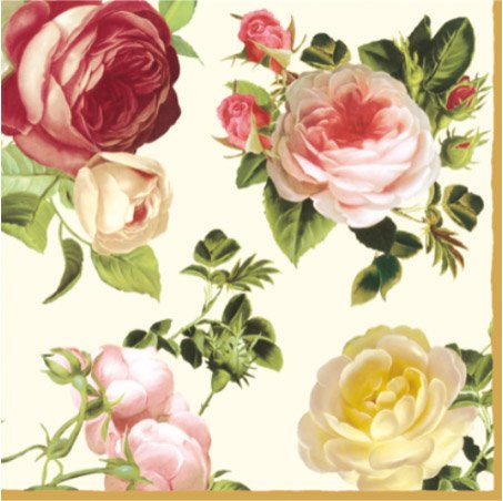 rosalia-champagne-pack-of-20-paper-napkins-33x33cm-3ply-floral-decoupage-shabby-chic