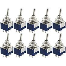 2 x AC 250V 15A 3 Positions DPDT Interrupteur bipolaire bidirectionnel a bascule SODIAL R