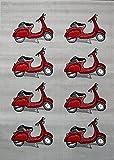 MONDIAL TAPIS Globalen Teppich Teppich Trend mit von Motorrad Roller Polypropylen grau, grau, 120 x 160 cm