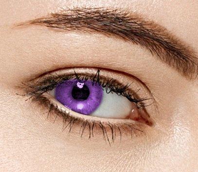 freshtone freshtone farbige kontaktlinsen monatslinsen violet lila ft-13vt Farbige Kontaktlinsen 3 Monatslinsen lila Sweet Violet Gute Deckkraft ohne Stärke mit Aufbewahrungsbehälter, violett