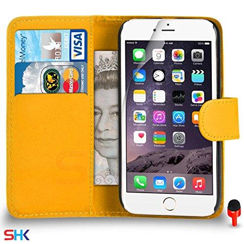 """Apple iPhone 6 / 6S Plus (5.5"""" Inch) Pack 1, 2, 3, 5, 10 Protecteur d'écran & Chiffon SVL0 PAR SHUKAN®, (PACK 10) Portefeuille Jaune"""