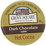 Groe Square Hot Cocoa Cups, Dark Chocolate, Single Sere Cup for Keurig K-Cup