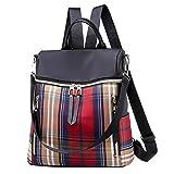 Anti Diebstahl Damen Rucksack Handtasche, Wasserdichte Nylon Schultaschen, Oxford Umhängetasche...