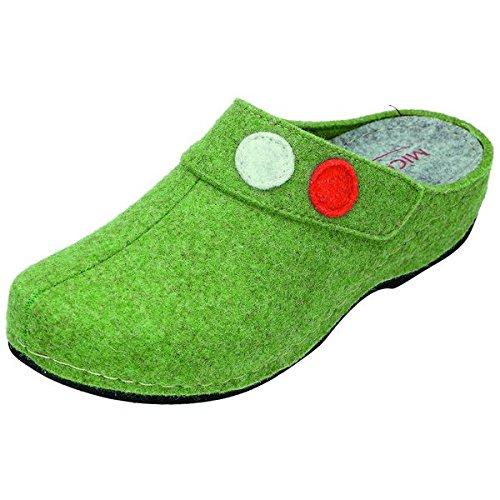 Miccos shoes 810140 chaussons pour femme Vert - Vert