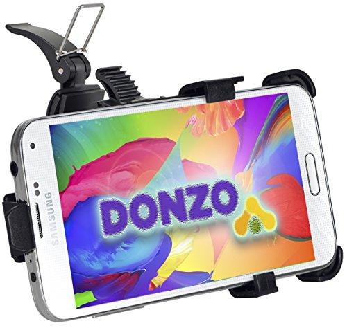 DONZO passiv Fahrrad-Halterung / Motorrad-Halterung für Samsung Galaxy S5 mini / SM-G800F - 360° drehbar - Quer-Betrieb möglich - Schwarz