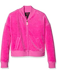 Juicy Couture, uk apparel, JUII9 Logo Vlr Glam Ring Wd Jacket, Sweat-Shirt à Capuche Fille