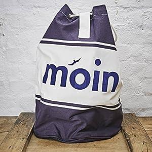 Seesack/Umhängetasche/Schultertasche Design Moin - blau-weisse Baumwolle blauer Druck