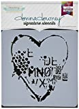 Donna Downey Schablonen Kunststoff Signature 21,6x 21,6cm, Herz Textur