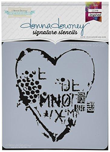 Donna Downey Schablonen DD-ST-57 Herztextur-Schablonen, 21,6 x 21,6 cm
