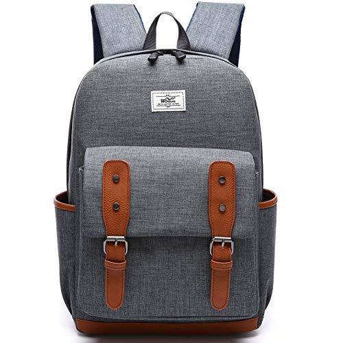 hsy Vintage College Bag Bookbags Rucksack Casual Daypacks Canvas Schulterrucksack für 13