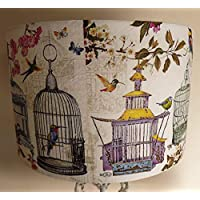 Vintage Birdcage Lampshade,pastel colours, floral shade