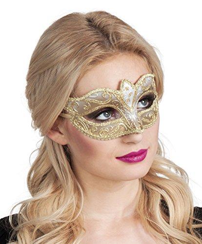 erdbeerclown- Kostümzubehör: Venezianische Maske, Gummiband, (Make Böse Clown Up)