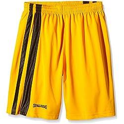 Spalding Bekleidung Teamsport MVP Shorts - Pantalones cortos de baloncesto para hombre, color amarillo/negro, talla XXXL