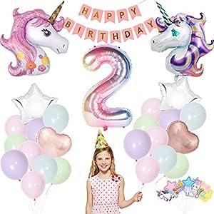 Unicornio Decoraciones Cumpleaños,Feliz Cumpleaños Ballon