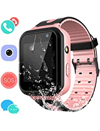 Montre Connectée Enfant IP67 Etanche - AGPS +LBS Tracker écran Tactile Smartwatch Phone Con Appareil Photo Touch SOS Alarme à Distance Les Filles garçons Étudiant (Rose)