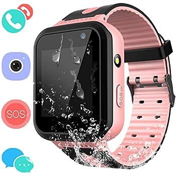 Montre Connectée Enfant IP67 Etanche - AGPS +LBS Tracker écran Tactile Smartwatch Phone Con Appareil Photo Touch SOS Alarme à Distance Les Filles garçons ...