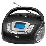 AEG SR 4373estéreo Radio, Reloj con función de Alarma, Pantalla multifunción