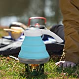 LOUTY Caldaia pieghevole pieghevole portatile del tè del bollitore 1.5L picnic di viaggio di campeggio all'aperto, base leggera dell'acciaio inossidabile Compatto leggero