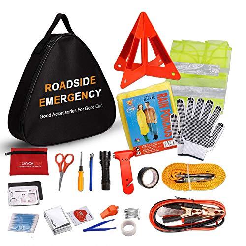 Sailnovo Auto Emergency Kit, Multifunktionale Pannenwerkzeugsets Verbandkasten für Auto