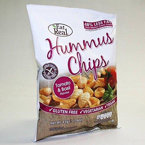 Eat Real Humus Tomato and Basil Chips 45g x 12