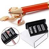 Deendeng Taille-crayon 4 trous pour crayons à charbon de bois, croquis, dessin, fournitures scolaires
