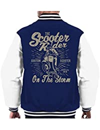 Coto7 Scooter Rider On The Storm Mens Varsity Jacket