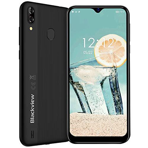 Blackview A60 Pro (2019) 4G Smartphone ohne Vertrag 6,1 Zoll Android 9.0 3GB RAM + 16GB ROM, 256GB erweiterbar 4080mAh Akku 8MP+5MP Dual Kamera Dual SIM Handy - Face/Fingerabdrucksensor -Schwarz