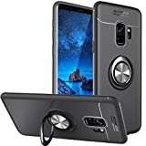 WATACHE Funda Galaxy S9 Plus, Anillo de Metal Grip Holder Kickstand Slim Soft Funda Protectora de TPU con Soporte Magnetic Car Mount Function para Samsung Galaxy S9 Plus(Negro)