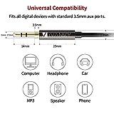iVanky Aux Kabel, 1,2M/ 2-Pack, 3,5mm Audio Kabel (Kupferhülse / Hi-Fi Sound), Klinkenkabel klinkenstecker für Kopfhörer Sony Beats Bose, Apple, Echo dot, Smartphones, MP3 Player und mehr - Schwarz - 4