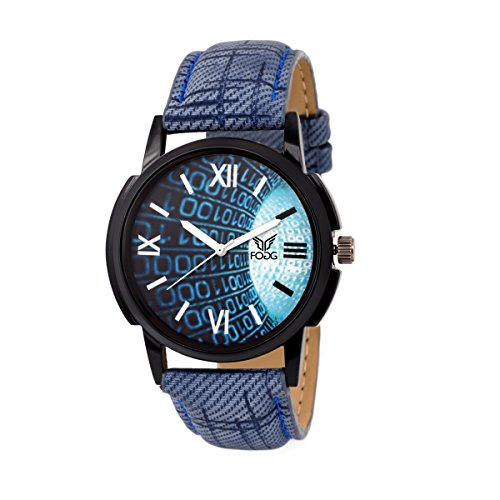 Fogg Analog Blue Dial Men's Watch 1078-BL