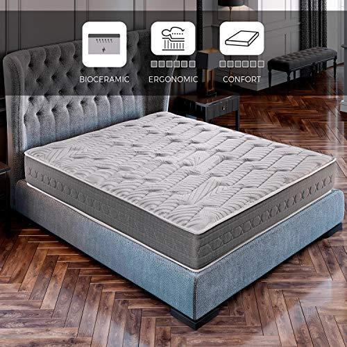 ROYAL SLEEP Colchón viscoelástico Carbono 150x190 firmeza Alta, Gama Alta, Efecto regenerador, Altura...