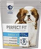 Perfect Fit Hunde Trockenfutter Junior für Welpen unter 10 kg mit Huhn, 4 Packungen (4 x 1,4 kg)