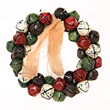 JUNMAONO Christmas Decoración, Coronas Y Guirnaldas, Campanas Cascabeles, Navidad Decoraciones, Adornos Navideños (1)