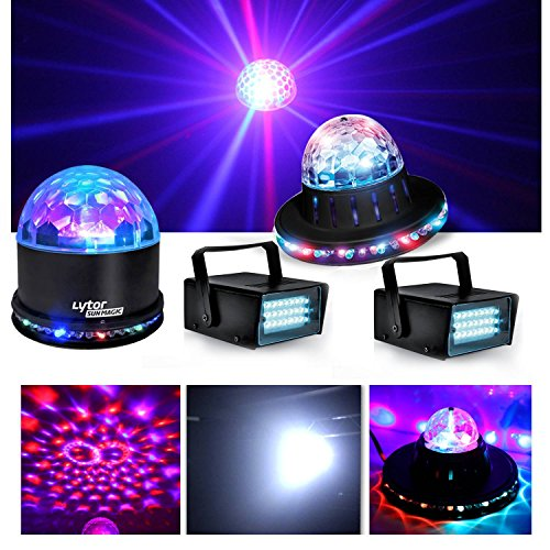 Pack Party Spiele von Licht Fiesta Light Night lytor sunmagic + 2 LED Strobe weiß + Effekt roundiams RGB