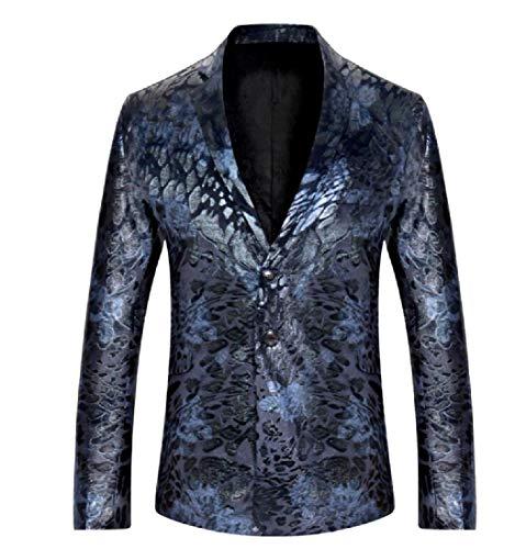 Andopa Herren individualität einreiher hochzeit mantel-jacken-oberbekleidung M Marineblau