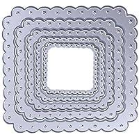 5pcs Plaza de la estrella muere de corte de troquel de Metal para DIY decoración para el hogar DIY álbum de fotos de Scrapbooking tarjeta de papel
