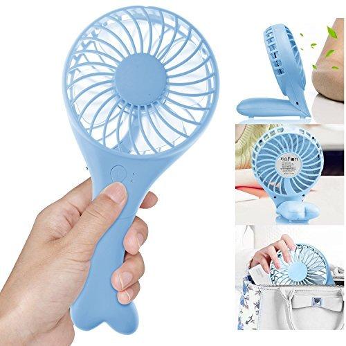 Aodoor Mini Ventilatore, Portatile Mini Ventilatore USB Mini Fan da Tavolo Regolabile e Portatile per Ufficio, Desktop (Blue)