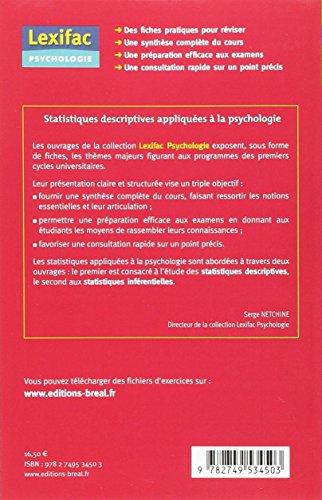 Statistiques Descriptives Appliquées a la Psychologie