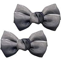F Fityle 1 Paar Damen Schleife Clips Schuhclips für Schuh Kleider Handtasche Clutch - Grau