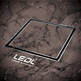 LEDL DRAINAGE TECHNOLOGY Floor Drain Tile Insert in Marine Grade Stainless Steel 316 with Cockroach Trap (Glossy , Silver , glossy , 150 x 150 mm with 10 mm tile Depth)