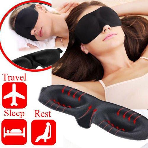 Augenmaske/Schlafmaske–Sleeping Masken für Männer & Frauen–Bedtime Bliss Luxus patentierte Konturierte & angenehmen Schlaf Maske & Ear Plug Set ist The Blackout Eyemask ES WIRD Ihre Augen wie andere Block Leichte - Bliss Maske