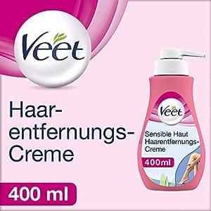 Veet Sensitive Enthaarungscreme - Einfache Haarentfernung für seidig glatte Haut - 400 ml