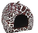 Treestar Lovely Leopard Muster Pet Nest weicher Samt Warm Hund Katze Kleine und mittelgroße faltbar einfach zu reinigen 1Stück