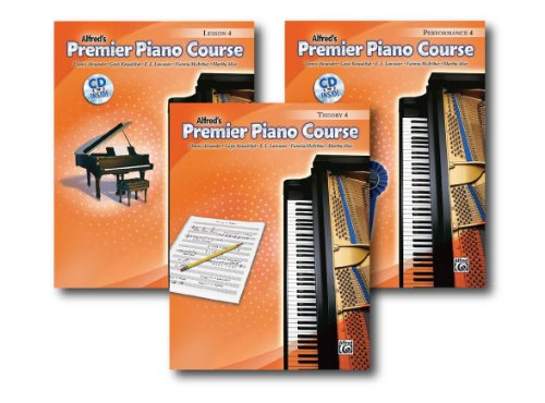 ALFRED 'S PREMIER Piano Course Serie Level 4-Drei Book Set-Beinhaltet Lesson, Theorie, und Leistung Bücher