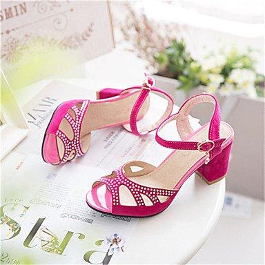 LvYuan Sandali-Matrimonio Formale Casual-Comoda Innovativo Club Shoes-Quadrato-Felpato Materiali personalizzati-Nero Blu Verde Rosso Red